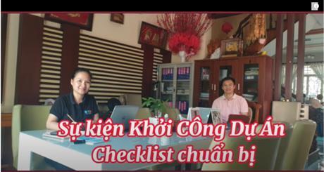 Checklist lễ khởi công dự án